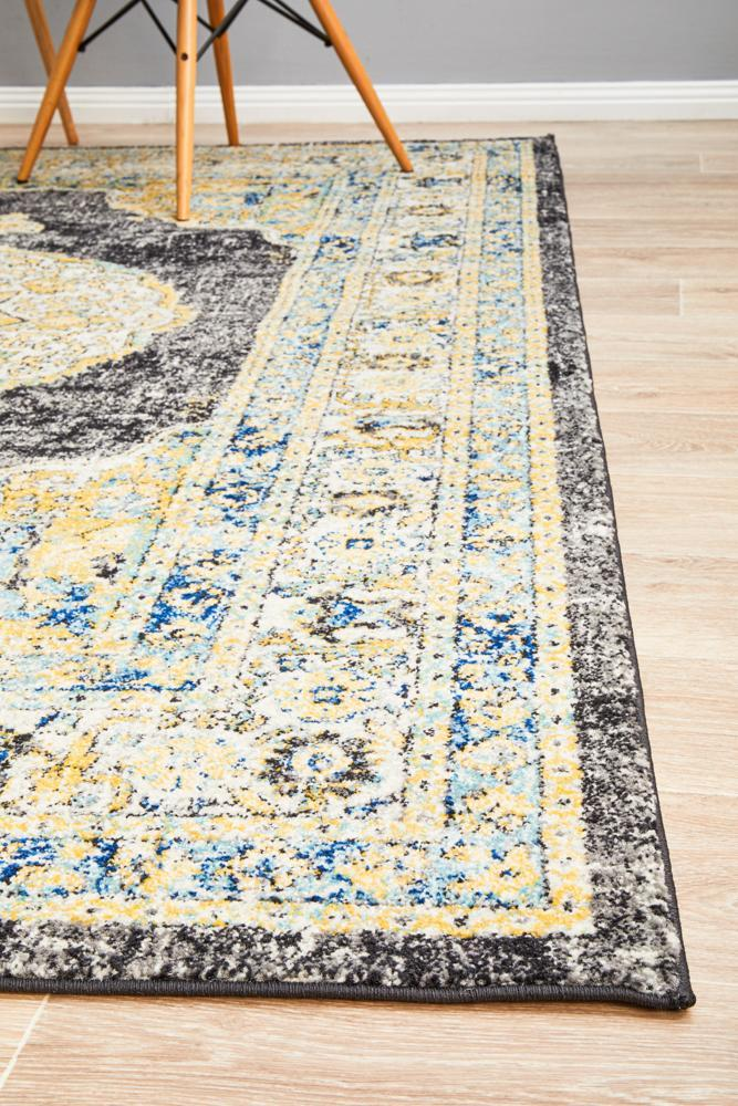 Century Rennick charcoal traditional design rug