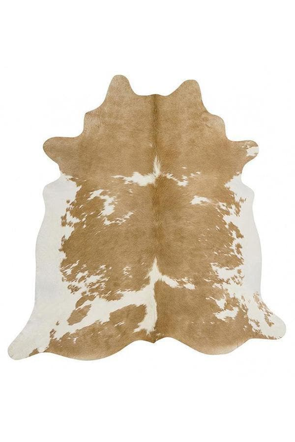 Exquisite Natural Cow Hide - Beige & White