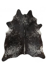 Exquisite Natural Cow Hide - Salt & Pepper Black
