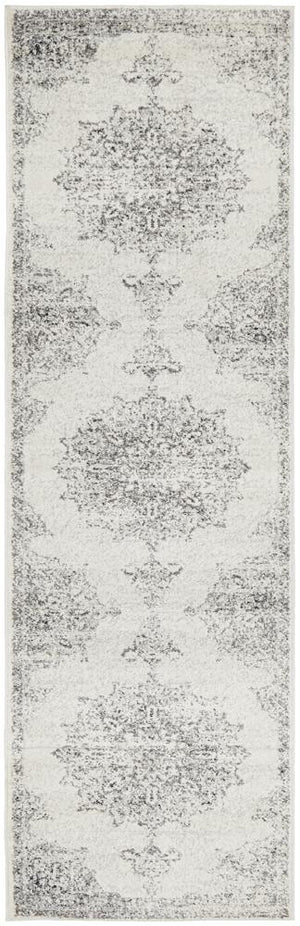 Chrome Rita Silver Runner Rug