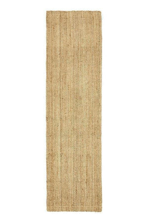 Chunky Barker natural jute fibre natural hall runner rug