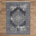 Dusk 2839 dark grey transitional traditional rug