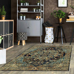 Dusk 3089 Navy transitional traditional rug