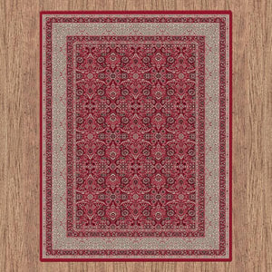 Dynasty 6881 red traditional classic design rug