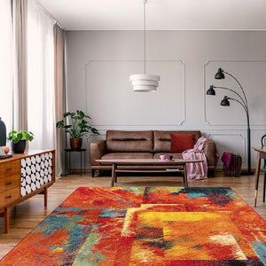 Galaxy 246 Multi bright modern rug