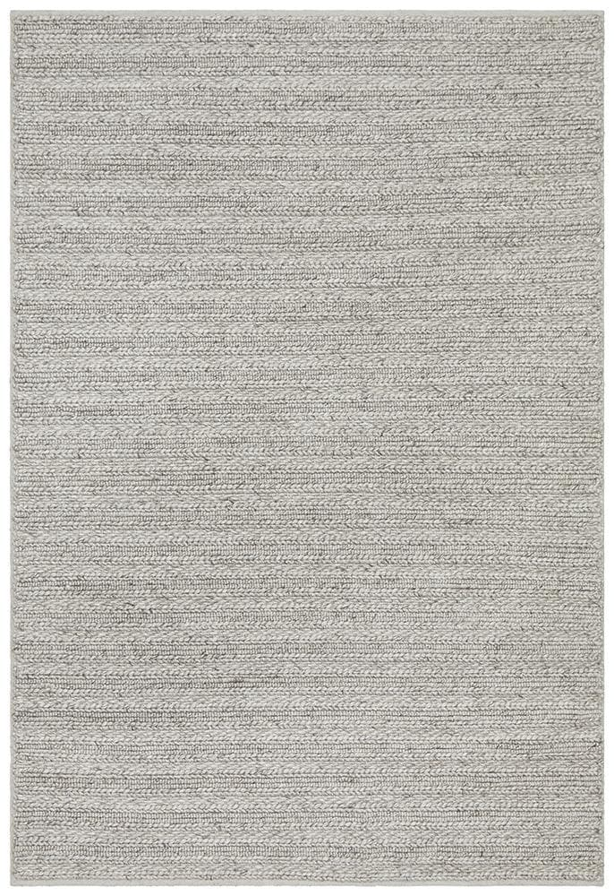 Harvest wool silver hand made rug