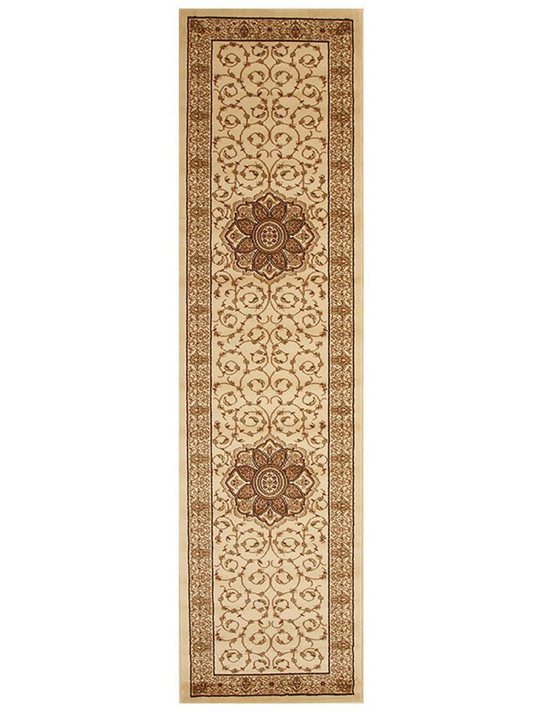 Istanbul Classic Medallion - Ivory hall runner