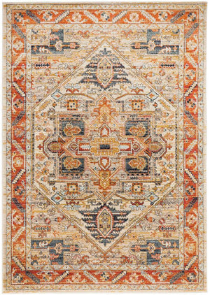 Legacy 850 Rust transitional traditional rug