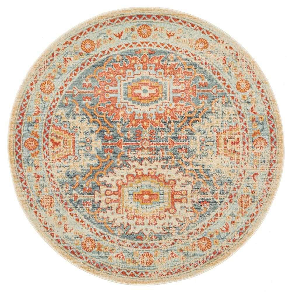 Legacy 853 Blue round transitional traditional rug