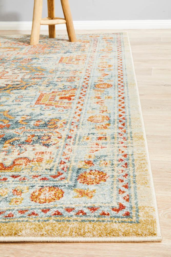 Legacy 853 Blue transitional traditional rug