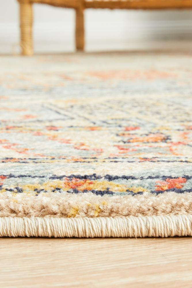 Legacy 859 sky blue round transitional traditional rug