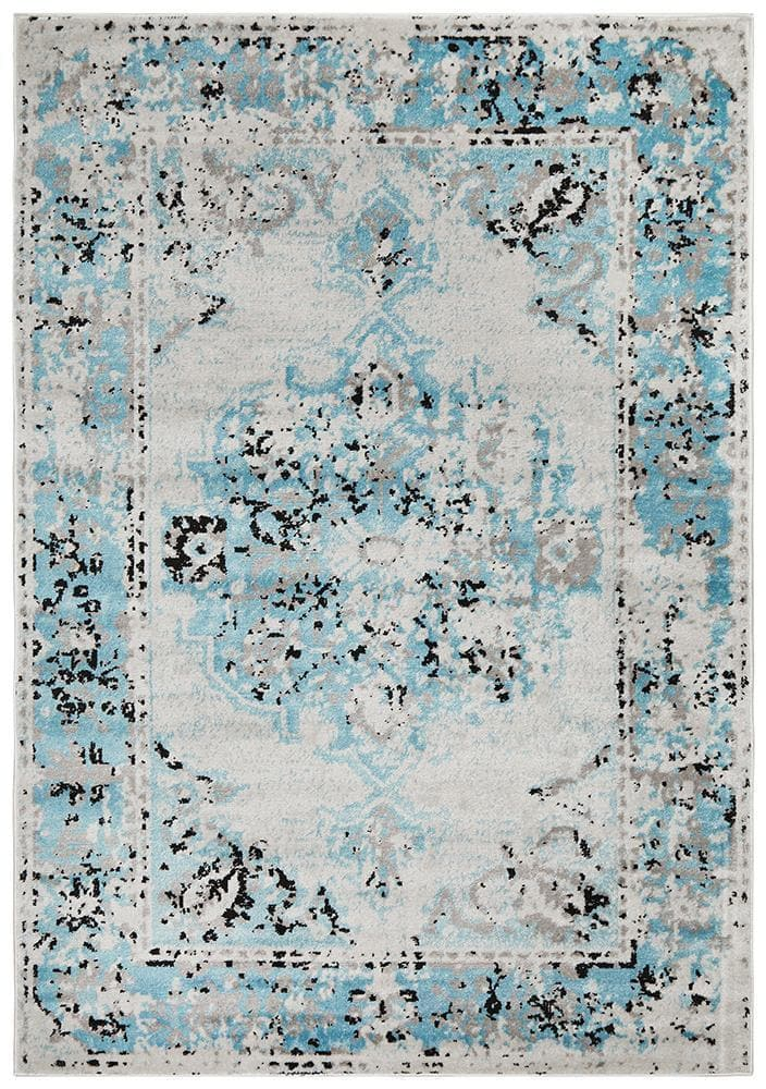 alexa transitional blue grey rug folded