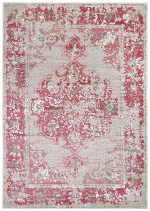 Load image into Gallery viewer, alexa transitional grey fuchsia rug full size image