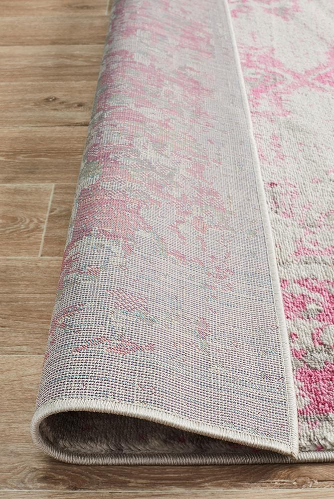 Load image into Gallery viewer, alexa transitional grey fuchsia rug folded