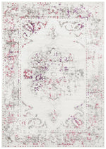 alexa transitional pink grey rug folded