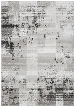 alicia distressed grey black rug full size image