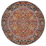 Museum Preston Multi Coloured Round Rug