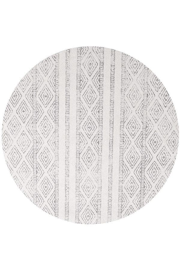 Oasis Selma Tribal - White And Grey [Round]