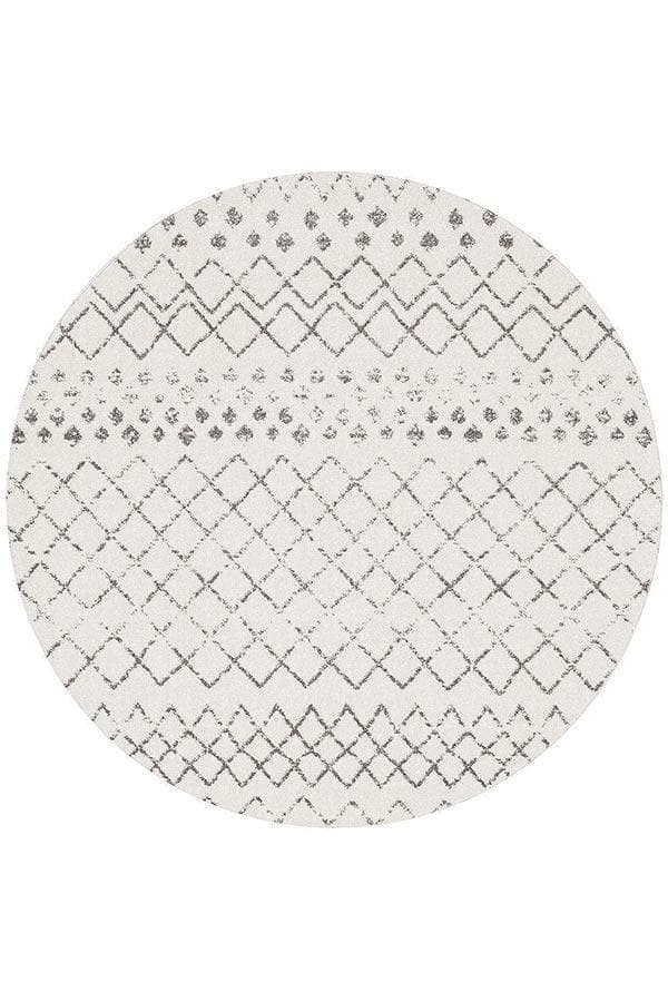 Oasis Selma Tribal - White Grey [Round]