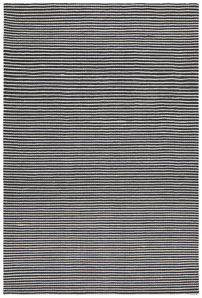 Oskar Felted Wool Striped - Black & White