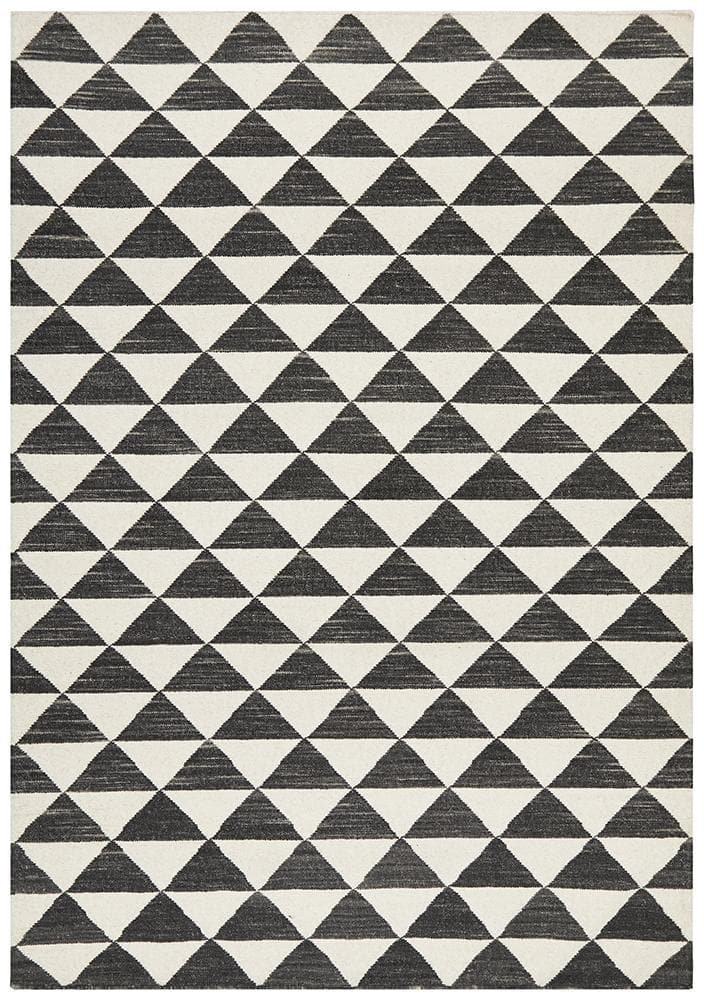 Load image into Gallery viewer, Studio 327 Flat Weave Wool - Black & White