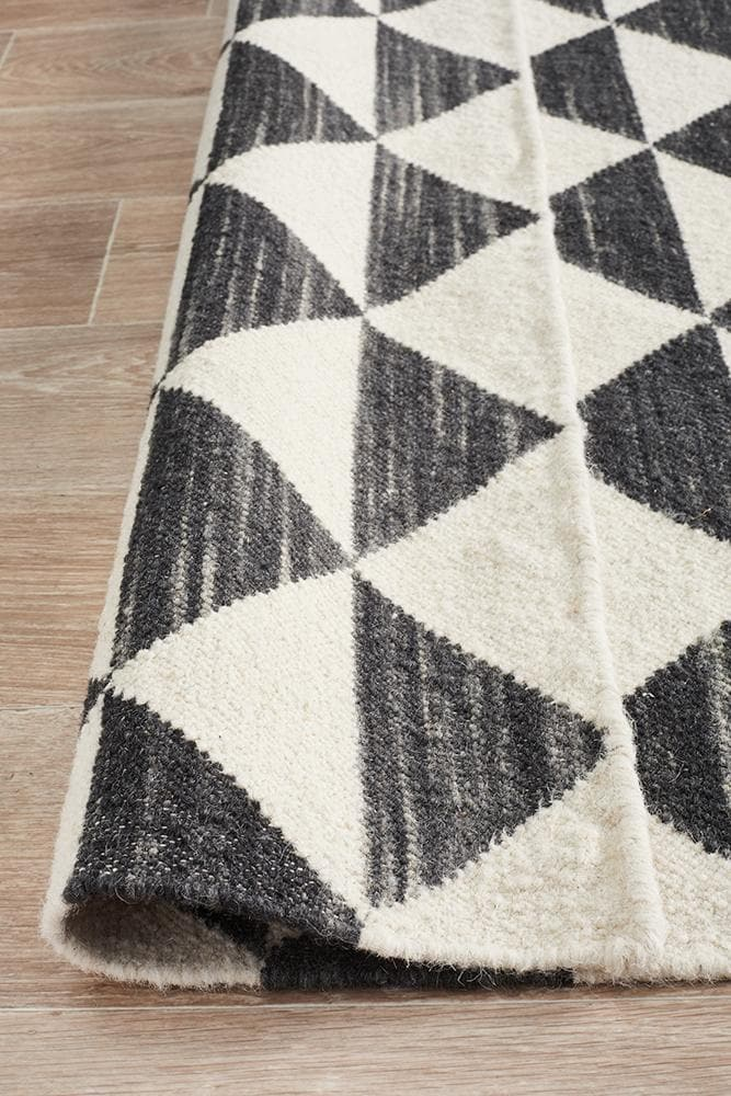 Studio 327 Flat Weave Wool - Black & White