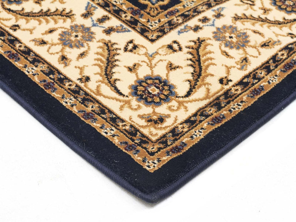 Sydney Medallion - Blue & Ivory Border [Runner]