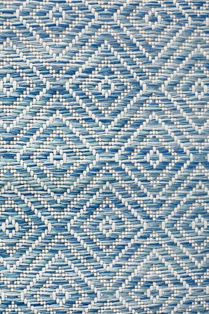 Load image into Gallery viewer, Terrace Diamond - Blue [Runner] [Indoor Outdoor]