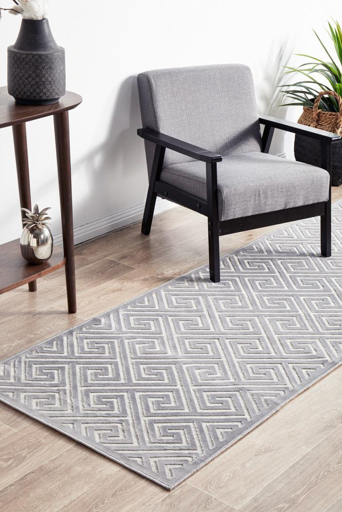 York Alice Silver Runner Rug