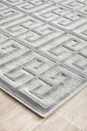 Load image into Gallery viewer, York Brenda Silver Runner Rug