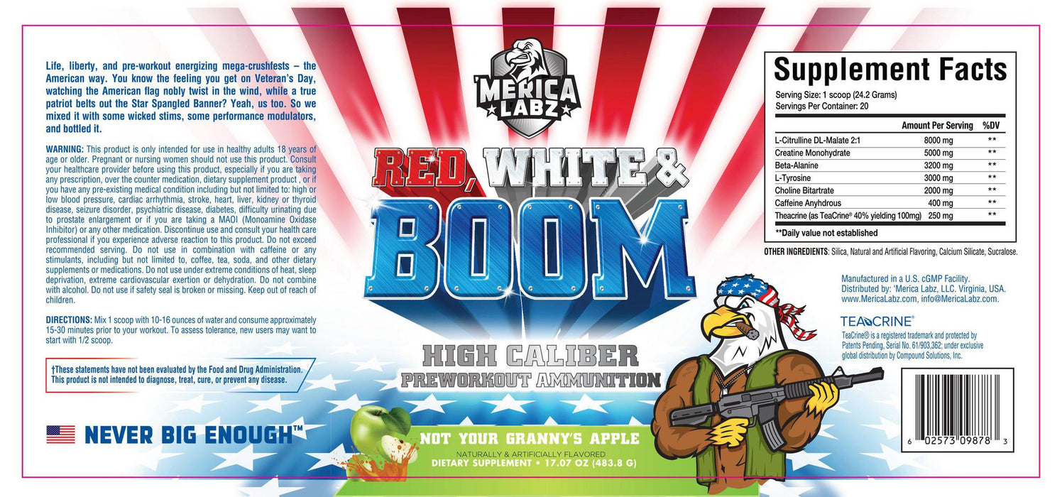 Merica Labz Red White And Boom 20 Servings
