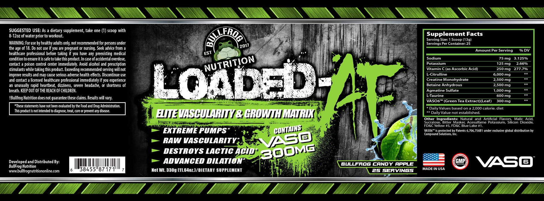 Bullfrog Exclusive Loaded-AF Stimulant Free Pre-workout