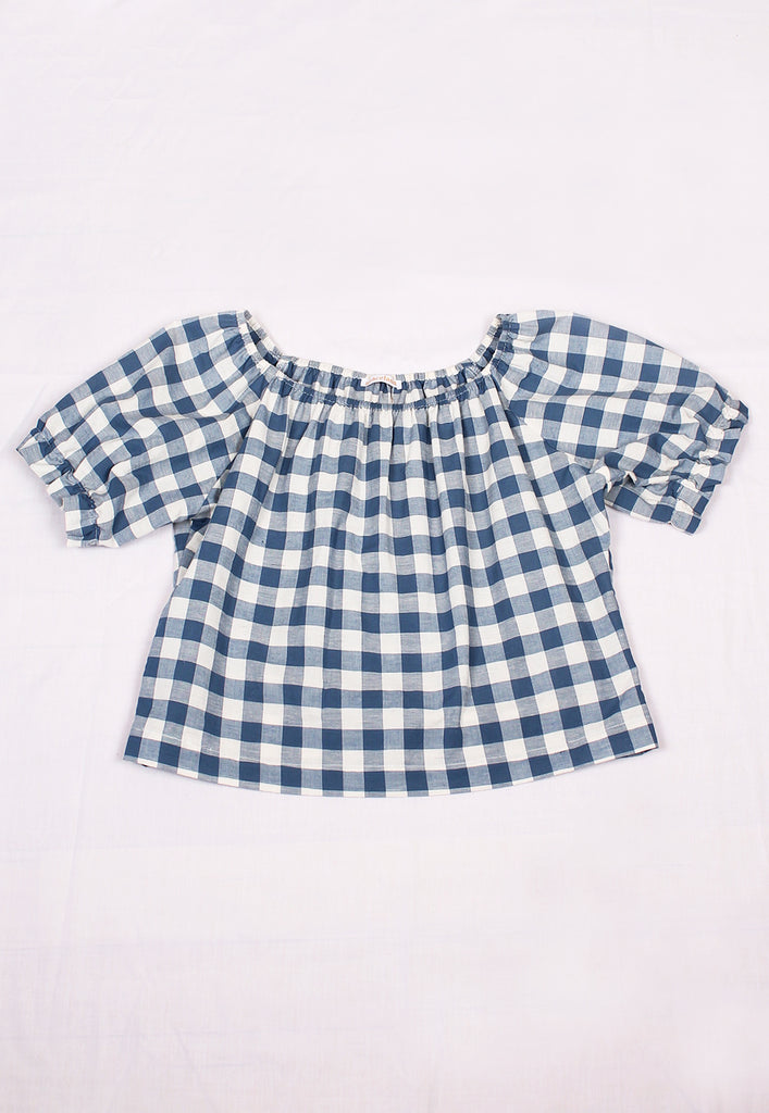 graceland gingham 'california' smock top