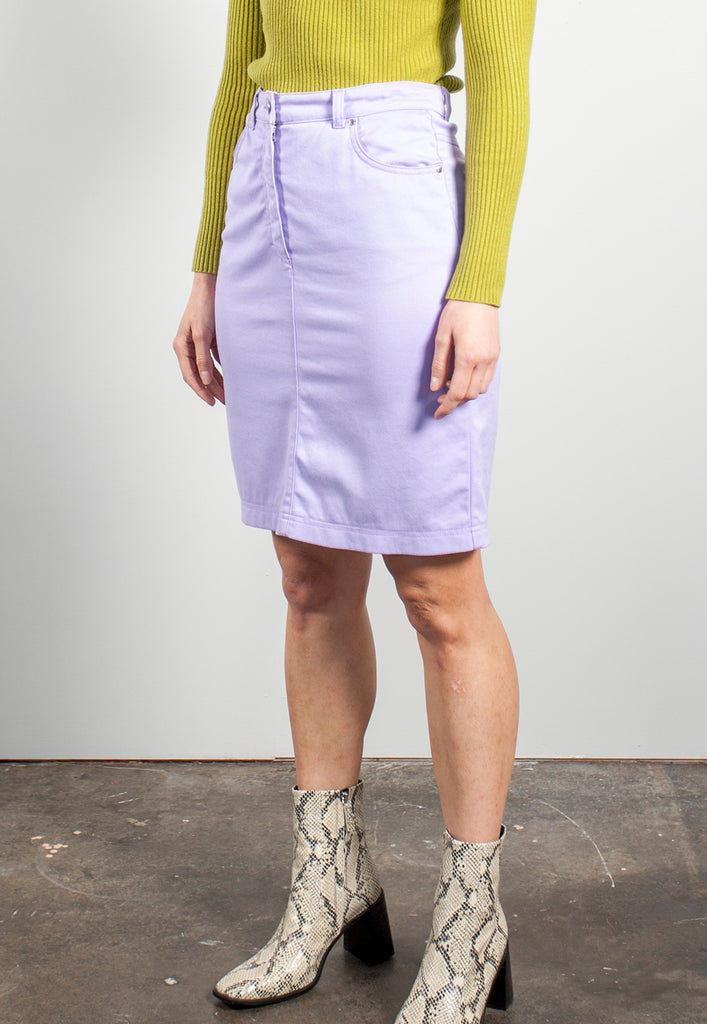 vintage lilac denim skirt by ESCADA - M