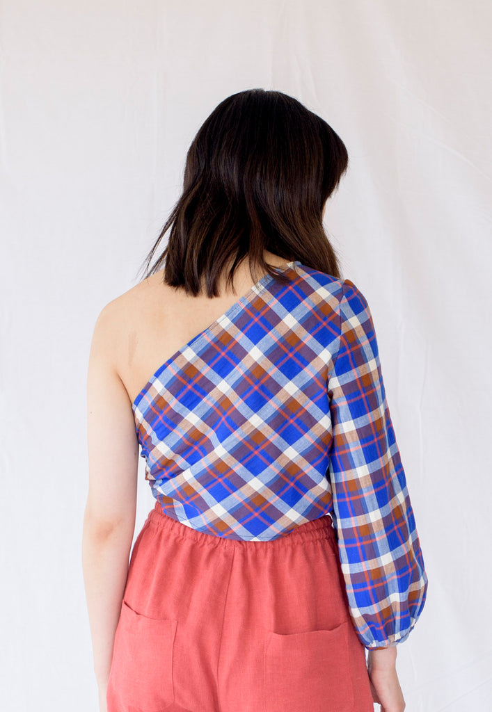 graceland plaid cotton 'minna' top