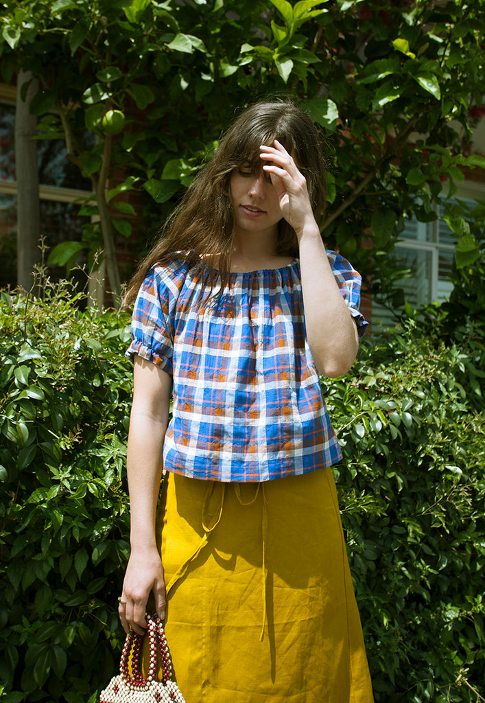 graceland plaid 'california' smock top