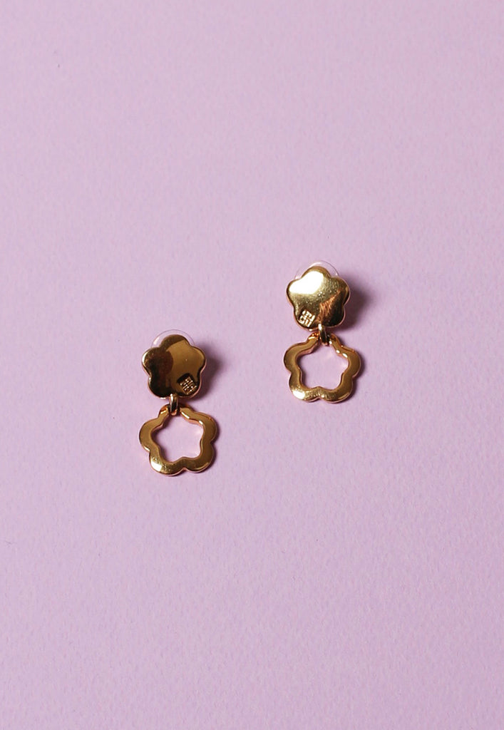 vintage GIVENCHY daisy drop earrings