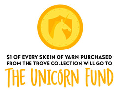 $1 from every skein sold goes to the The Unicorn Fund