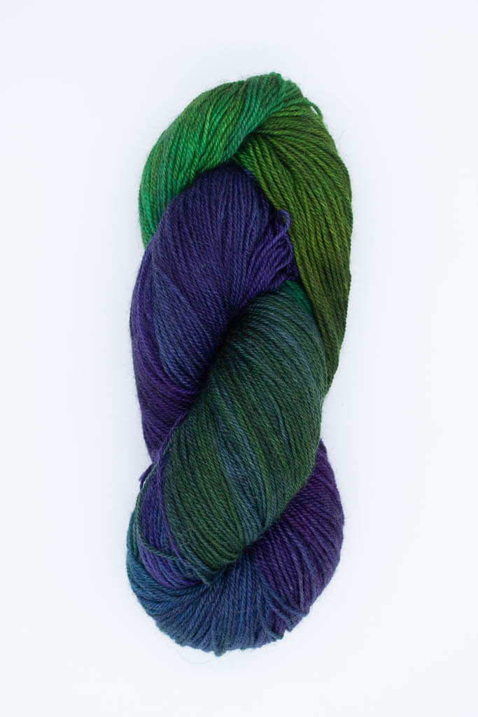 Garner on BFL Sock Yarn