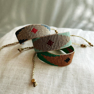 DIAMOND COLLECTION- Miyuki beaded colorful bracelets byCarmen Salvador Handmade Jewelry