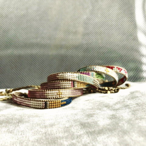 RAINBOW Collection-Bracelet-Carmen Salvador Handmade Jewelry-Pink and green-Carmen Salvador Handmade Jewelry