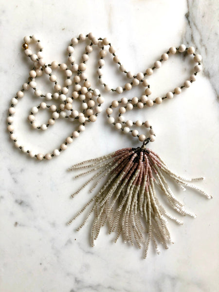 carmen-salvador-handmade-jewelry,Glass tassel necklace,Carmen Salvador Handmade Jewelry,