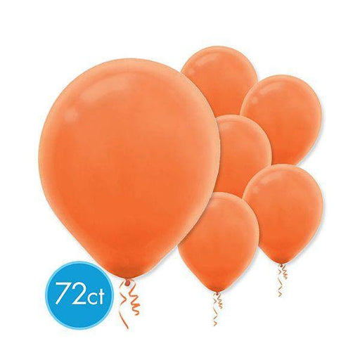 Ballons en latex de 12 po - Orange (72/pqt.)