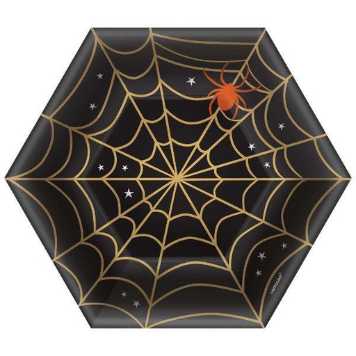 Assiettes en forme d'hexagone Halloween (8/pqt - 7po)