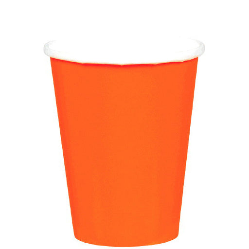 Verres en carton - Orange 9oz. (8/pqt.)