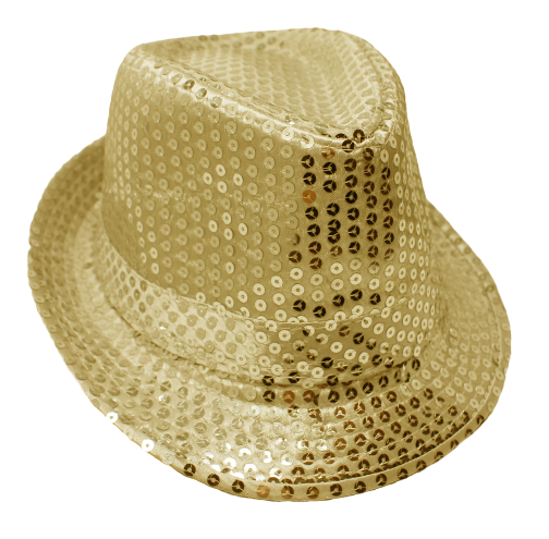 Chapeau à paillettes - Or - Adulte