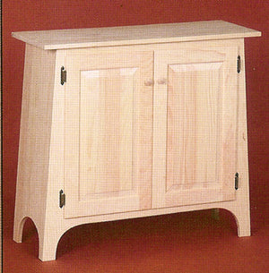 Unfinished Two Door Hall Cabinet - Dining