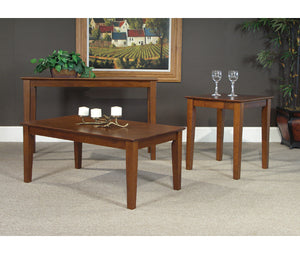 Espresso Shaker Tables - Living Room