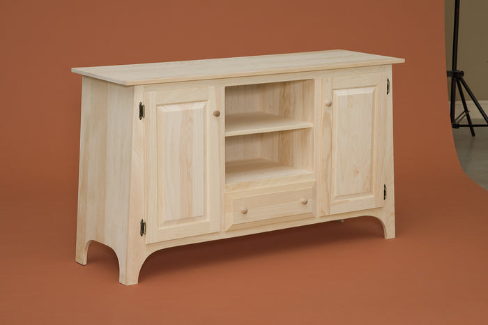 Slant TV Cabinet With Drawer