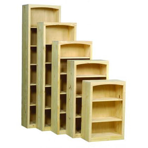 Pine 24 Unfinished Bookcases - Home Office